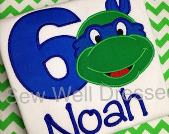 Teenage Mutant Ninja Turtle Birthday Shirt - TMNT shirt
