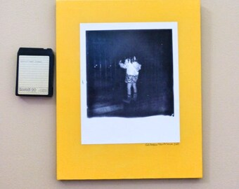 16x20 BIGGEROID polaroid print on canvas decoupage (Addie hunting cats Jackson Square(pumpkin)