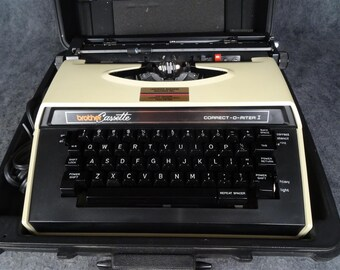 Brother Cassette Electric Typewriter Correct-O-Rite I Version