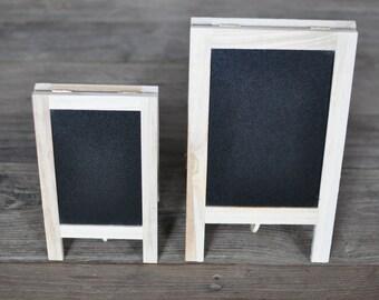 2/pk Chalkboard Easels, Chalkboard Signs, Tabletop Easel, Mini Blackboard Easel