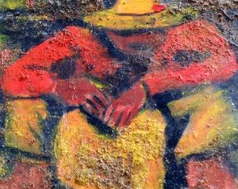 peasant worker taking break