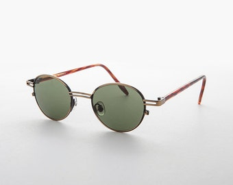 Classic Small Round Mid Century Combo Sunglasses RX Optical Quality -Gainsbourg