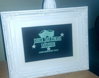 Baby/Child Name Personal Framed