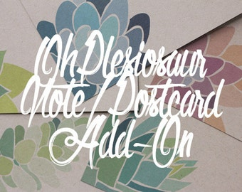 OhPlesiosaur Succulent Postcard / Notecard Add-On