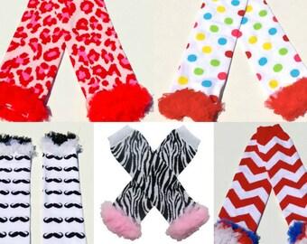 Cotton  and Chiffon Legwarmers
