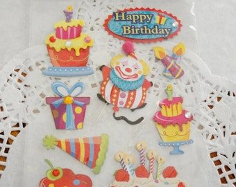 Birthday Embellishments Stickers 3D Embellishments