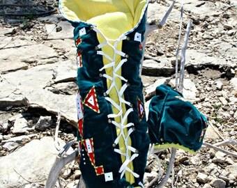 Emerald Green Moss Bag