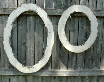 Two Oval Distressed Frames