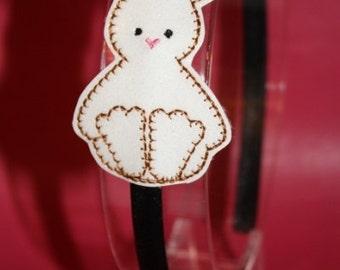 Bunny MINI Headband Slider Embroidery Machine Design for the 4x4 hoop