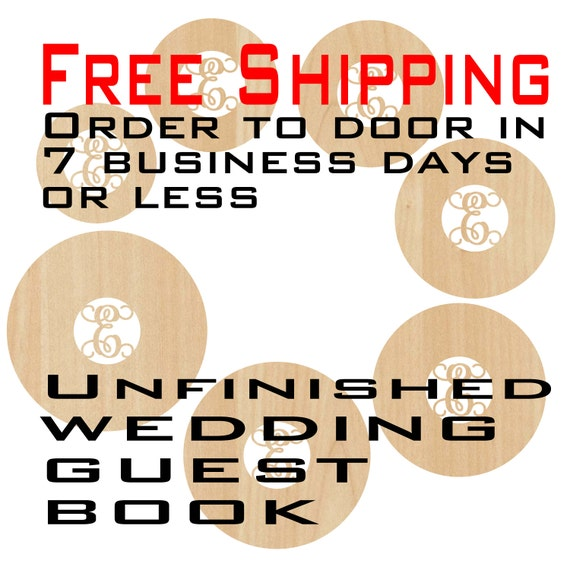 Unfinished Wood Circle Wedding Guest Book, Door Hanger, Wedding, laser cut shape, Guest Book Alternative, wooden sign, party, birthday