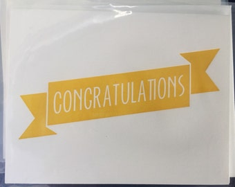 Congratulations - Letterpress Card