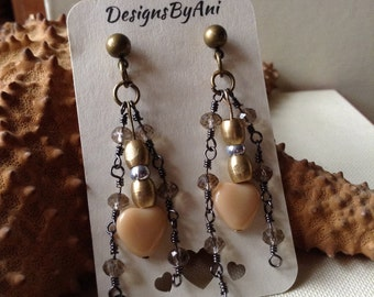 Ivory Heart Earrings