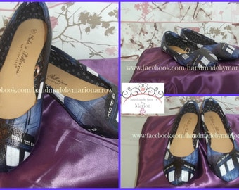 Dr Who customized ladies flat shoes,made to order