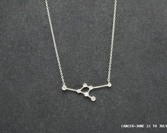 Constellation Sterling Silver Necklace - Cancer (Jun.22 ~ Jul.22)