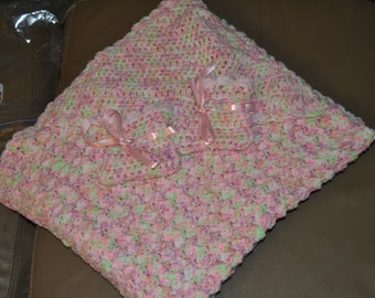 Pink and Green Baby Blanket