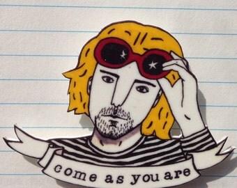 Kurt Cobain brooch