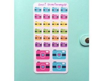Kawaii Camera Sticker Sheets