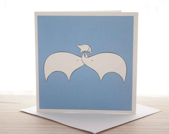 New baby card - 'New baby boy' Elephants greeting card