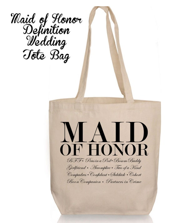 Maid of Honor Definition Wedding Canvas Tote Bag