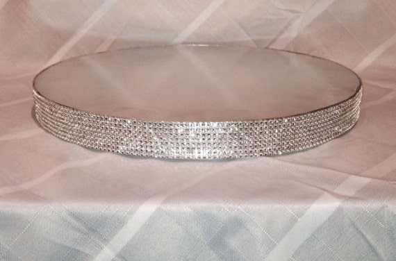 16 inch silver round wedding cake stand items similar to bling cake stand 16 inch silver 10058