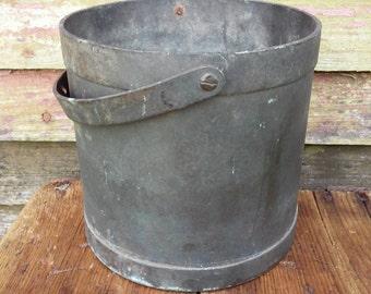 Vintage Copper Bucket Primitive Bucket Copper pail Copper pot