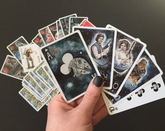 Star Wars Inspired Fan Art Cards - Watercolor Painting Reproductions, Playing Cards, Sci-Fi Lover Gift