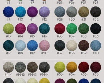 100cm Custom Colour Felt Ball Rug Perfect For Nurserys