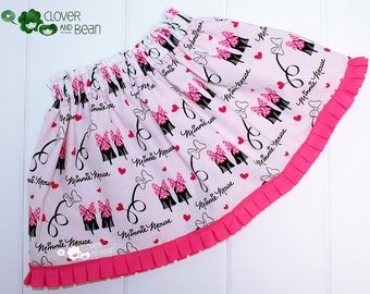 Minnie Mouse Skirt - Minnie Skirt - Disney Skirt - Birthday Skirt - Toddler Skirt - Baby Skirt - Minnie Mouse Birthday -Minnie Mouse Costume