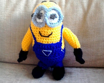 Dave the Minion Hand Crocheted Toy