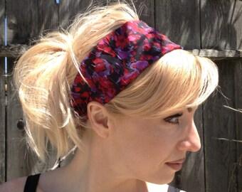 Heabands for Women,Red Headbands, Boho Headband,hair wraps,Red bandana, Women's Headband, Adult Headwrap,  Bandana headband,  hair