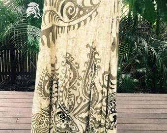 Vintage 70s batik Indian wrap skirt