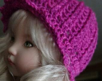 """Crochet Cloche Hat Pattern for 13"""" dolls"""