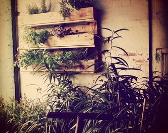 Vertical Herb Garden - Rustic Style - Upcycled Reclaimed Wood