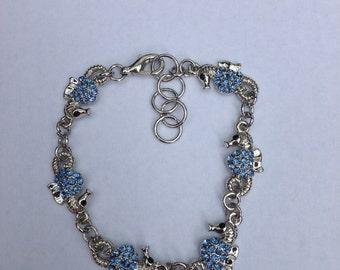 Blue Seahorse Bracelet