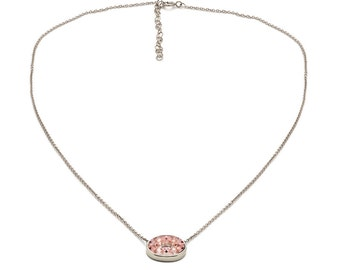 Tousi Jewelers Morganite Necklace -14k Solid White Gold Pendant- Nice Pink Morganite Gift for Her