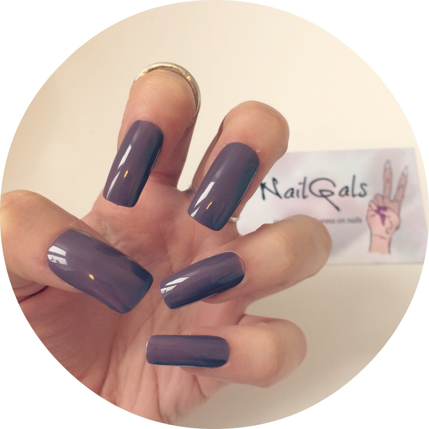 Images of Black Square Nails - #SpaceHero