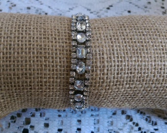 Rare Vintage Stretch Rhinestone Bracelet