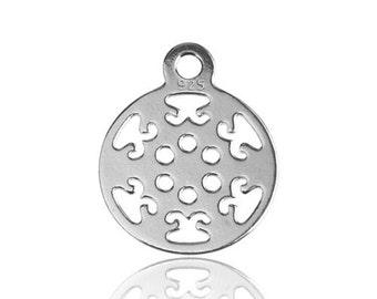 Charm Small Rosette Silver 925