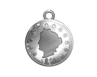 Charm Coin Sterling Silver 925