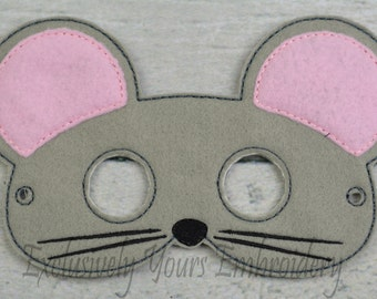 Mouse Children's Mask  - Costume - Theater - Dress Up - Halloween - Face Mask - Pretend Play - Party Favor