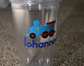 Personalized Train Tumbler