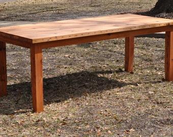 Reclaimed Heart Pine Farm Table