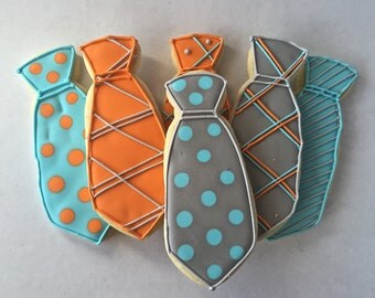 Father's Day cookies - ties one dozen