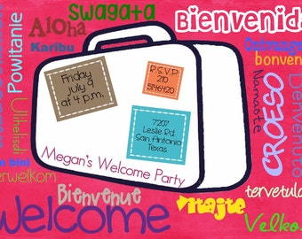 Welcome Party Digital Invitation
