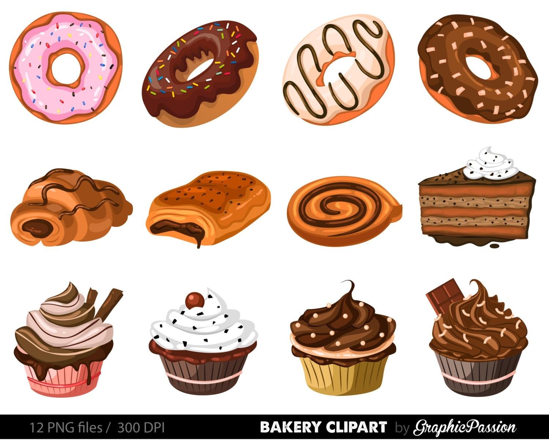Clip Art Bakery Cake : Bakery Clipart Cake Clip art Pie clip art Ginger house