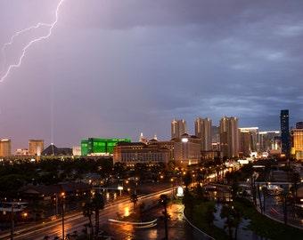 Thunderstorm, Las Vegas Strip, Casino, Long Exposure