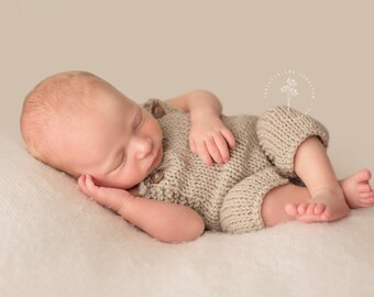 Newborn Button Overalls