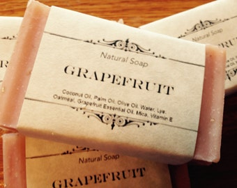 Grapefruit Natural Homemade Soap
