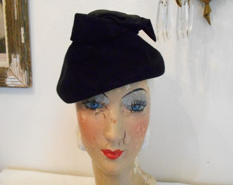 1950's Black Felt Hat