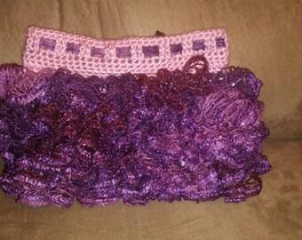 Crocheted Ruffled Skirt